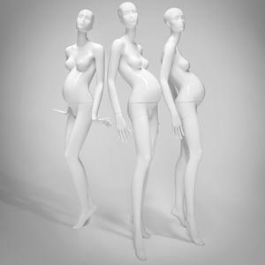 weibliche, schwangere Schaufensterpuppen von Ästhetik & Design by Holger Kressin